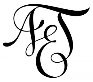 Modèle de tatouage calligraphique