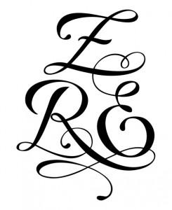 modèle de tatouage trois lettres ZRE