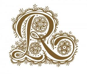 modèle tatouage lettre R henné