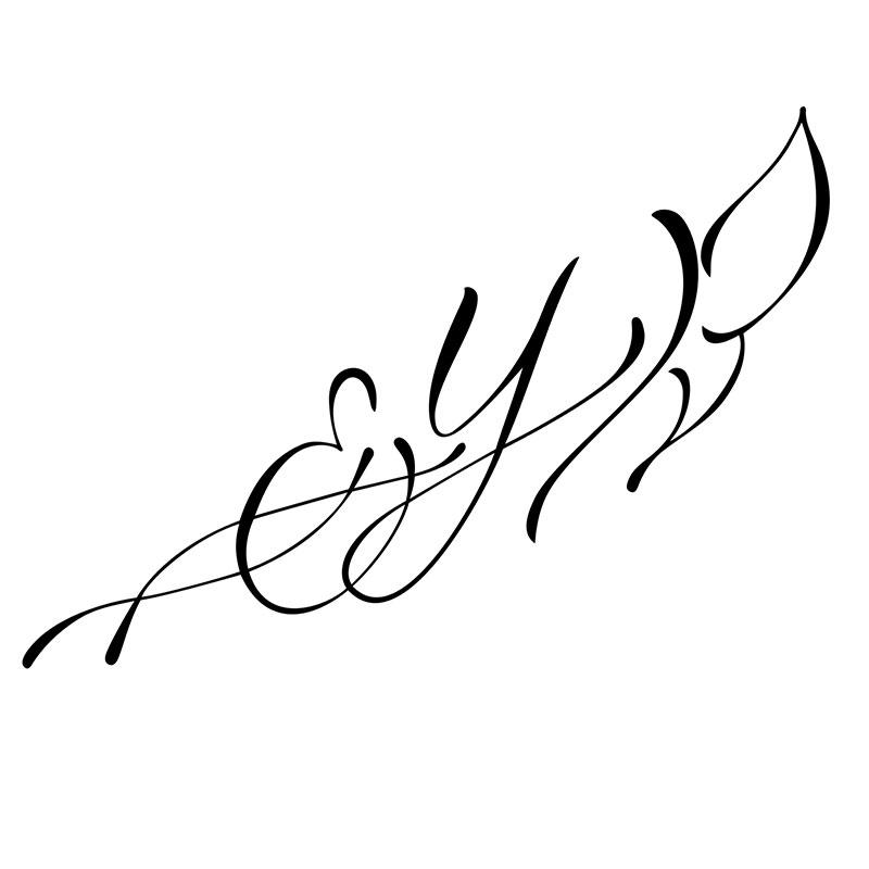 modele lettre e pour tatouage