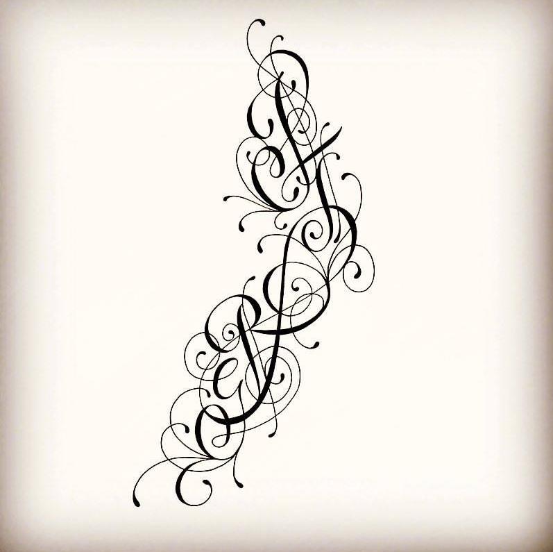 Tatouages Initiales Tatouages Lettres Com