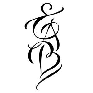 modèle de tatouage 3 lettres